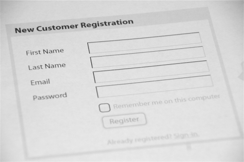 Example personal details form